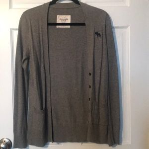 Abercrombie & Fitch gray cardigan